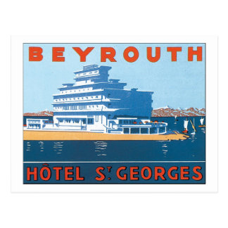 Beyrouth Hotel St. Georges Postcard
