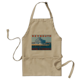 Beyrouth St. Georges Vintage Travel Poster Adult Apron