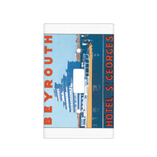 Beyrouth St. Georges Vintage Travel Poster Light Switch Cover