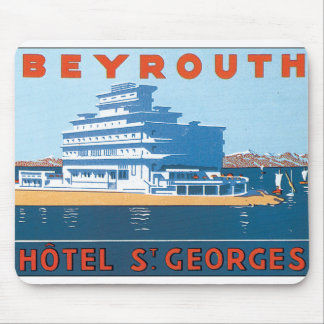 Beyrouth St. Georges Vintage Travel Poster Mouse Pad