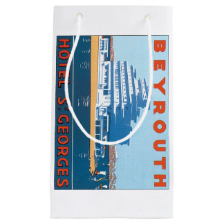 Beyrouth St. Georges Vintage Travel Poster Small Gift Bag