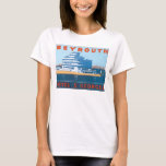Beyrouth St. Georges Vintage Travel Poster T-Shirt