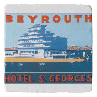 Beyrouth St. Georges Vintage Travel Poster Trivet