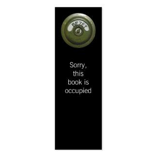 Bezet, occupied bookmark business card