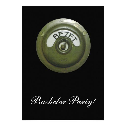 Bezet, occupied custom invitations