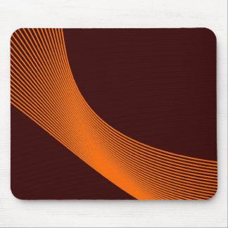 Bézier Curves - Orange on Dark Brown 330000 Mouse Pad