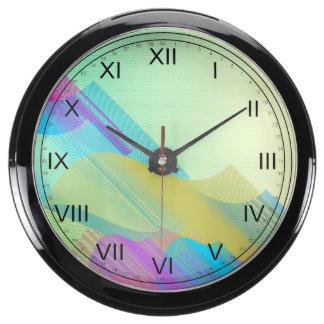 Bezier en colores pastel medio reloj aquavista