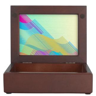 Bezier en colores pastel medio cajas de recuerdos