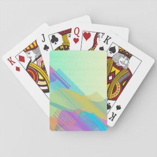 Bezier en colores pastel medio cartas de póquer