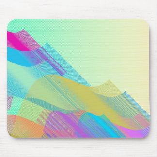Bezier en colores pastel medio alfombrilla de ratón