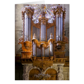 Béziers Cathedral organ Greeting Cards