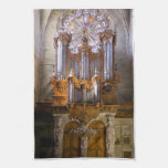 Beziers Cathedral organ  tea towel