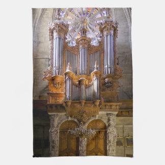 Béziers Cathedral organ tea towel