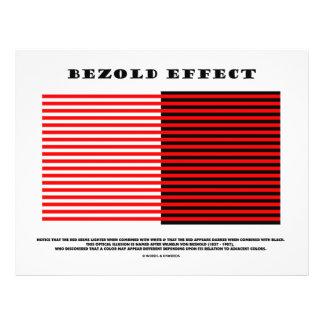 "Bezold Effect (Optical Illusion) 8.5"" X 11"" Flyer"