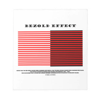 Bezold Effect Optical Illusion Memo Notepad