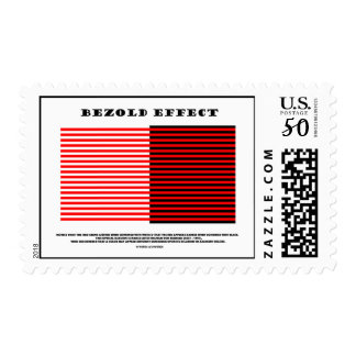 Bezold Effect (Optical Illusion) Postage