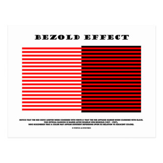 Bezold Effect (Optical Illusion) Post Cards