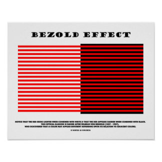 Bezold Effect (Optical Illusion) Poster