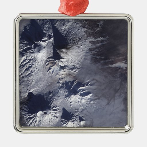 Bezymianny Volcano exhibits a modest plume Christmas Tree Ornament