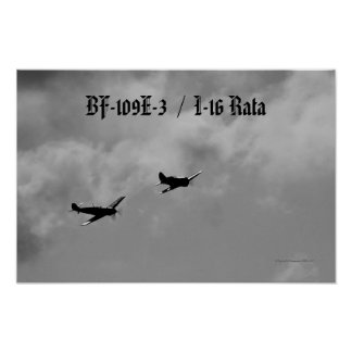 Bf-109 and I-16 Rata Poster
