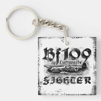 Bf 109 Double-Sided Square Acrylic Keychain