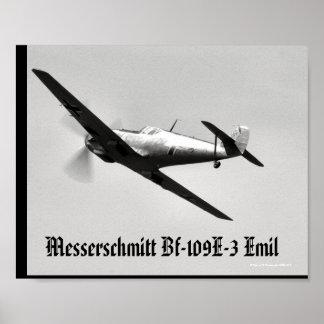 Bf-109E-3 Emil Poster