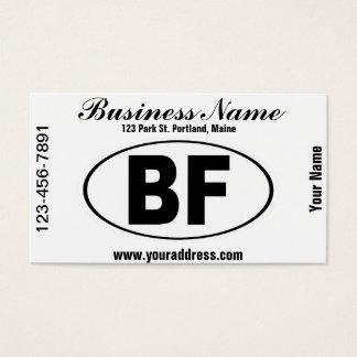 BF Beaver Falls Pennsylvania Business Card