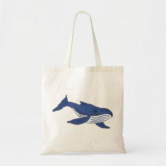 BF- Blue Whale Cartoon Tote Bag
