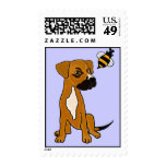 BF- Boxer Puppy Dog and Bee Postage