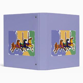 BF- Carousel Horse Folk Art Binder