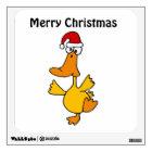 BF- Dancing Duck Christmas Wall Decal