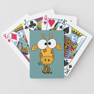 BF- Funny Giraffe Playing Cards