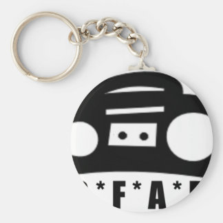 BFAB ~ Born from a boombox Basic Round Button Keychain