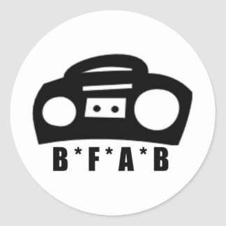 BFAB ~ Born from a boombox Classic Round Sticker
