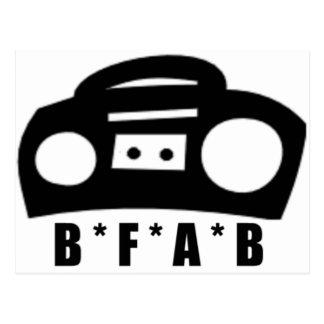 BFAB ~ Born from a boombox Postcard