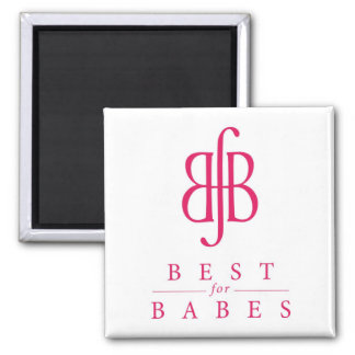BfB_one color logo 2 Inch Square Magnet