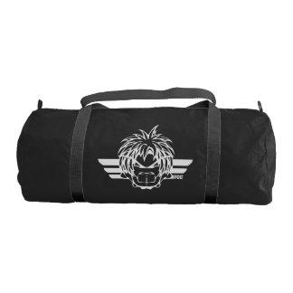 BFCC Duffle Gym Bag, Black with Black straps Duffle Bag