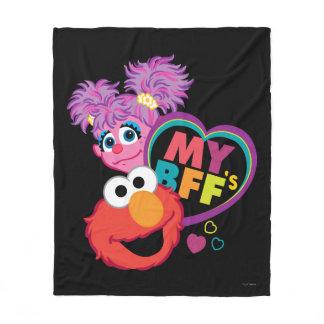BFF Abby and Elmo Fleece Blanket