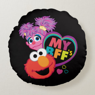 BFF Abby and Elmo Round Pillow