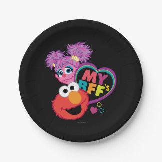 BFF Abby y Elmo Plato De Papel De 7 Pulgadas