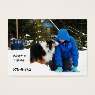 BFF - Aussie and Child In Snow  Business Card