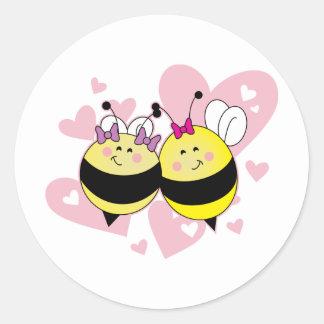 BFF Bee's Classic Round Sticker