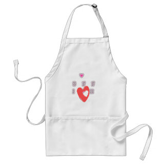 BFF Best friend forever BFF. Adult Apron