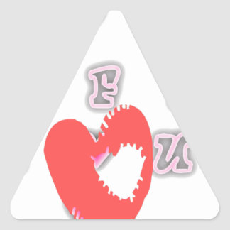 BFF Best friend forever BFF. Triangle Sticker