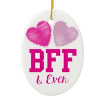 BFF Best Friends Forever Ceramic Ornament