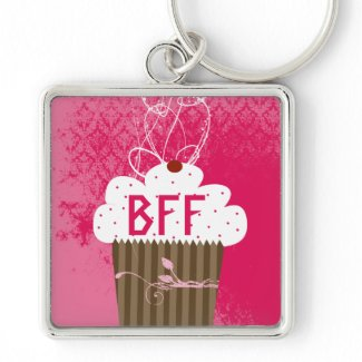 BFF Best Friends Forever Cupcake Keychain keychain
