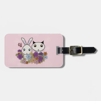 BFF - Best Friends Forever Cute Animal Kids Pink Travel Bag Tags