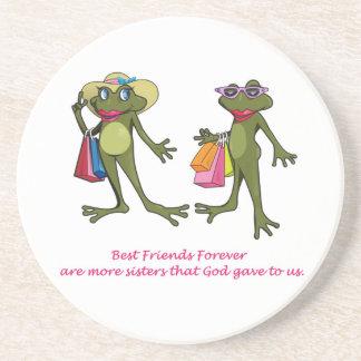 BFF Best Friends Forever Frog Coaster