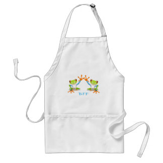 BFF Best Friends Forever Frogs Adult Apron