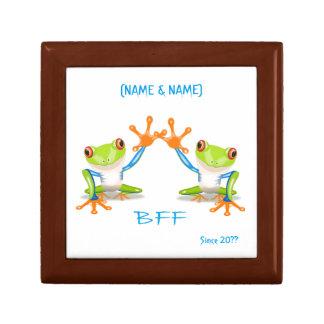 BFF Best Friends Forever Frogs Keepsake Boxes